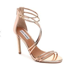 Steve Madden Fico Metallic Rose Gold Heels 7